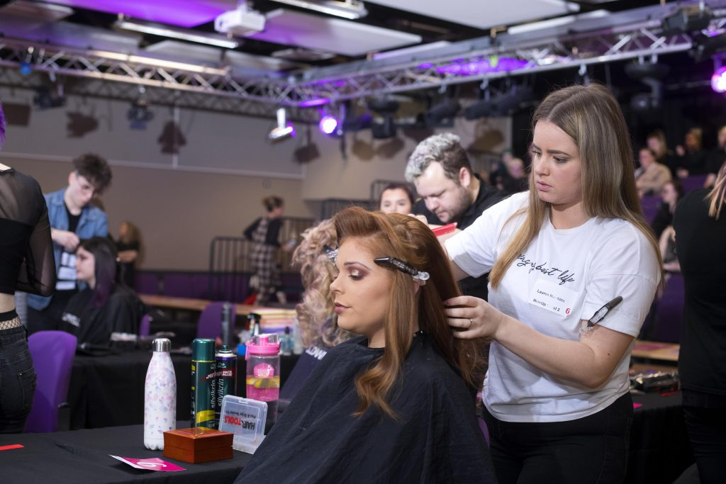 Hairdressing apprentice, Lauren Hawkins